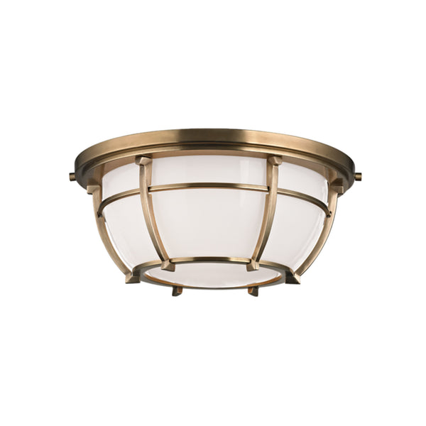 Hudson Valley Lighting 4112-AGB Conrad 2 Light Flush Mount in Aged Brass