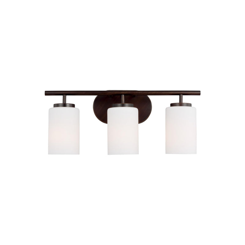Generation Lighting 41162-710 Sea Gull Oslo 3 Light Wall / Bath Light in Burnt Sienna