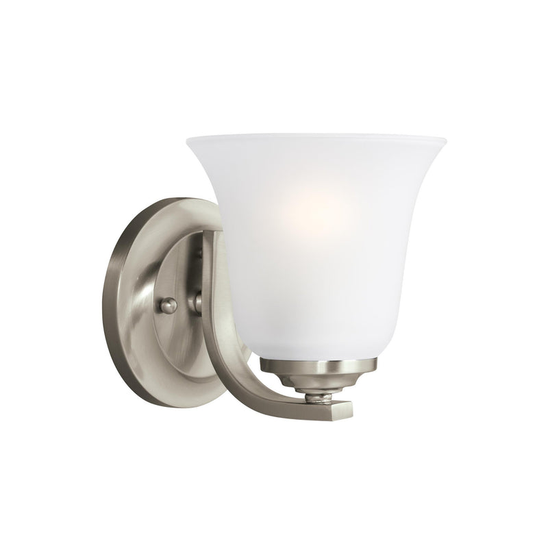 Generation Lighting 4139001-962 Sea Gull Emmons 1 Light Wall / Bath Light in Brushed Nickel