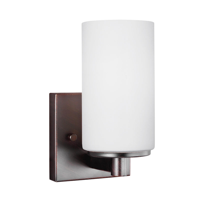 Generation Lighting 4139101-710 Sea Gull Hettinger 1 Light Wall / Bath Light in Burnt Sienna