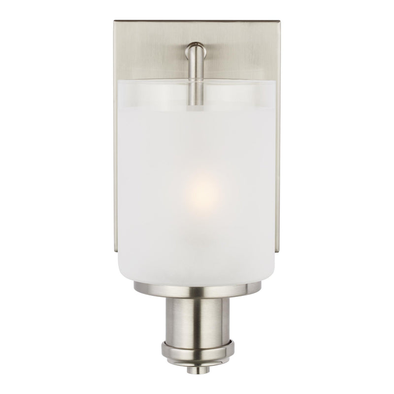 Generation Lighting 4139801-962 Sea Gull Norwood 1 Light Wall / Bath Light in Brushed Nickel