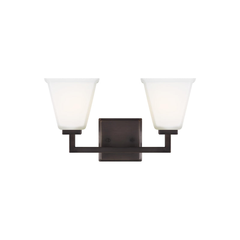 Generation Lighting 4413702-778 Sea Gull Ellis Harper 2 Light Wall / Bath Light in Brushed Oil Rubbed Bronze