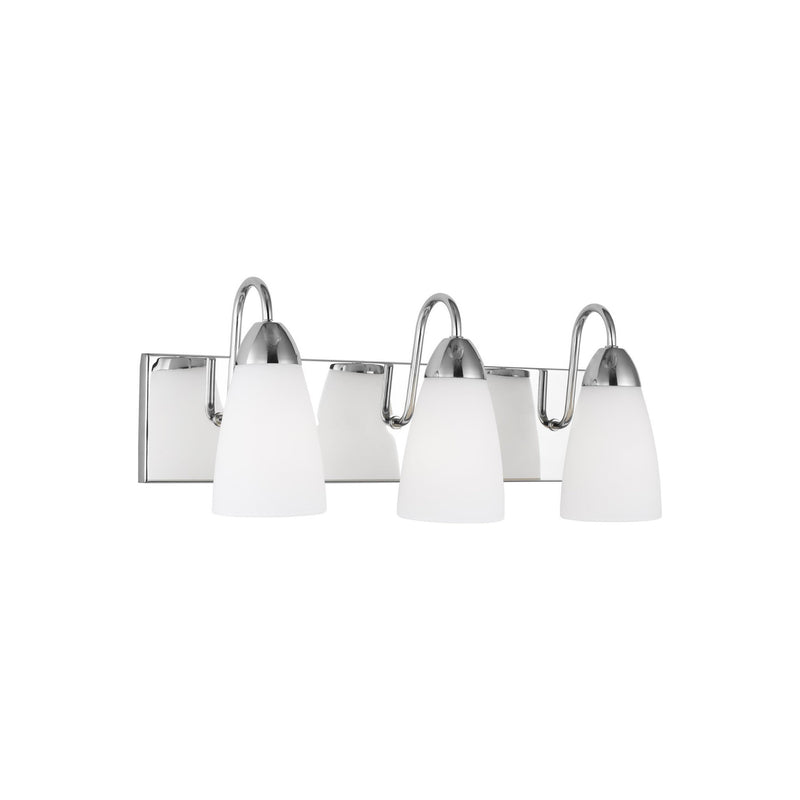 Generation Lighting 4420203-05 Sea Gull Seville 3 Light Wall / Bath Light in Chrome