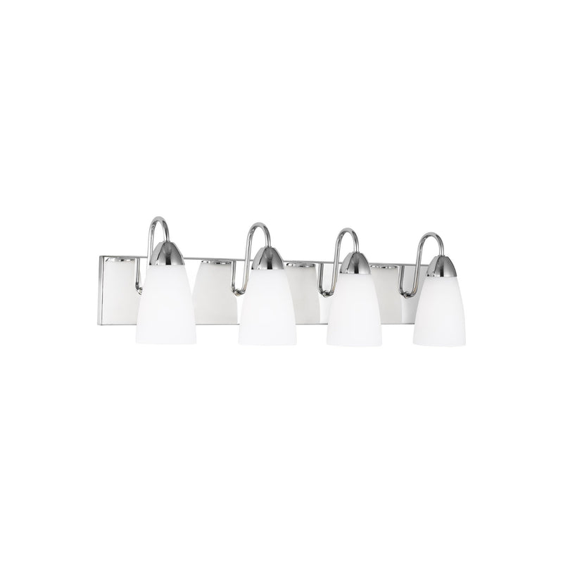 Generation Lighting 4420204EN3-05 Sea Gull Seville 4 Light Wall / Bath Light in Chrome