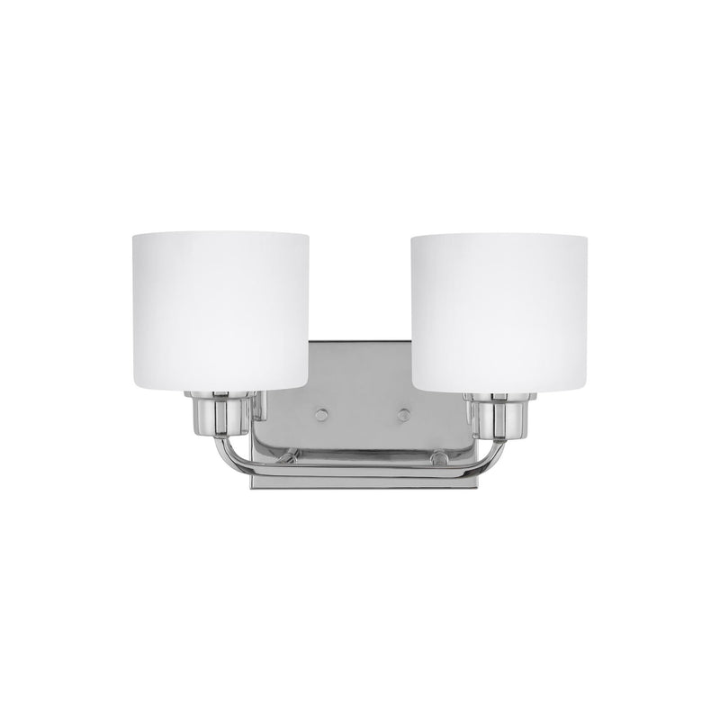 Generation Lighting 4428802EN3-05 Sea Gull Canfield 2 Light Wall / Bath Light in Chrome