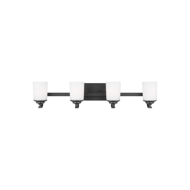 Generation Lighting 4430704-112 Sea Gull Kemal 4 Light Wall / Bath Light in Midnight Black
