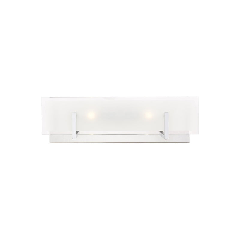 Generation Lighting 4430802-05 Sea Gull Syll 2 Light Wall / Bath Light in Chrome