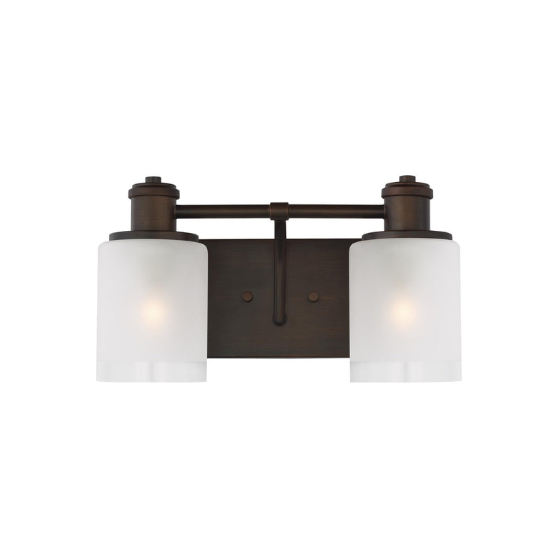 Generation Lighting 4439802-710 Sea Gull Norwood 2 Light Wall / Bath Light in Burnt Sienna