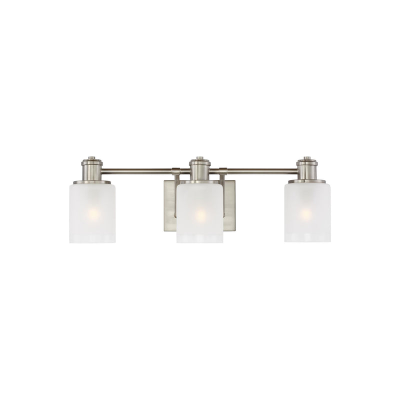Generation Lighting 4439803-962 Sea Gull Norwood 3 Light Wall / Bath Light in Brushed Nickel