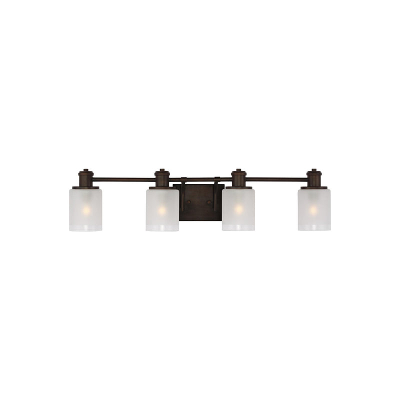 Generation Lighting 4439804-710 Sea Gull Norwood 4 Light Wall / Bath Light in Burnt Sienna
