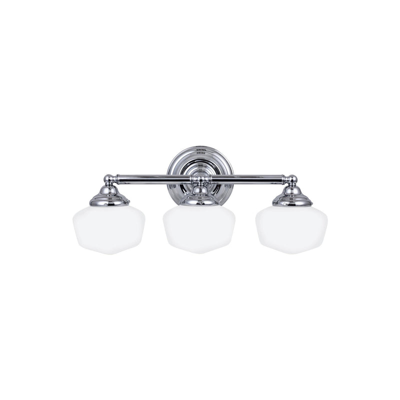 Generation Lighting 44438EN3-05 Sea Gull Academy 3 Light Wall / Bath Light in Chrome