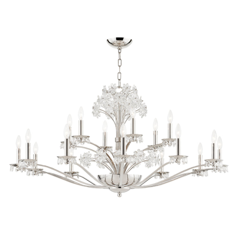 Hudson Valley Lighting 4452-PN Beaumont 20 Light Chandelier in Polished Nickel