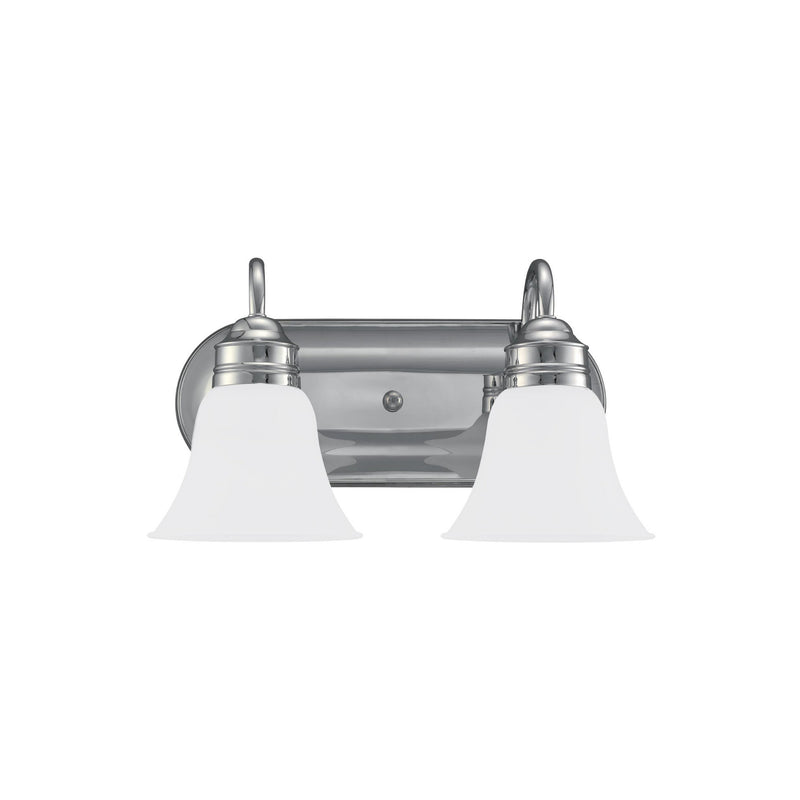 Generation Lighting 44851EN3-05 Sea Gull Gladstone 2 Light Wall / Bath Light in Chrome