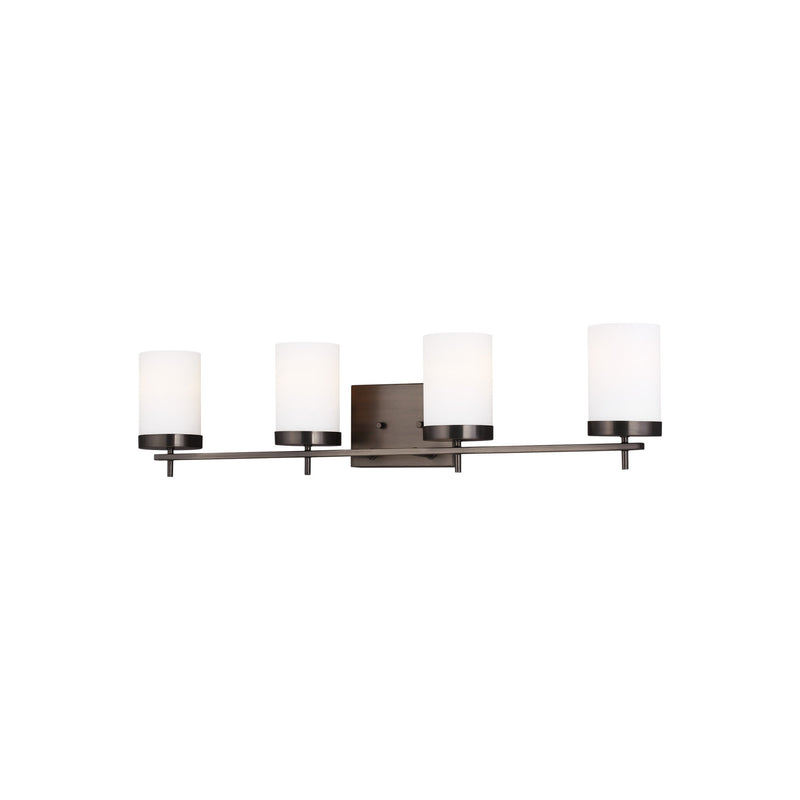 Generation Lighting 4490304-778 Sea Gull Zire 4 Light Wall / Bath Light in Brushed Oil Rubbed Bronze
