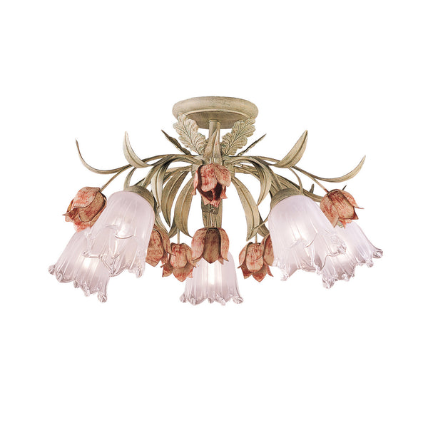 Crystorama 4800-SR Southport Ceiling Mount in Sage Rose