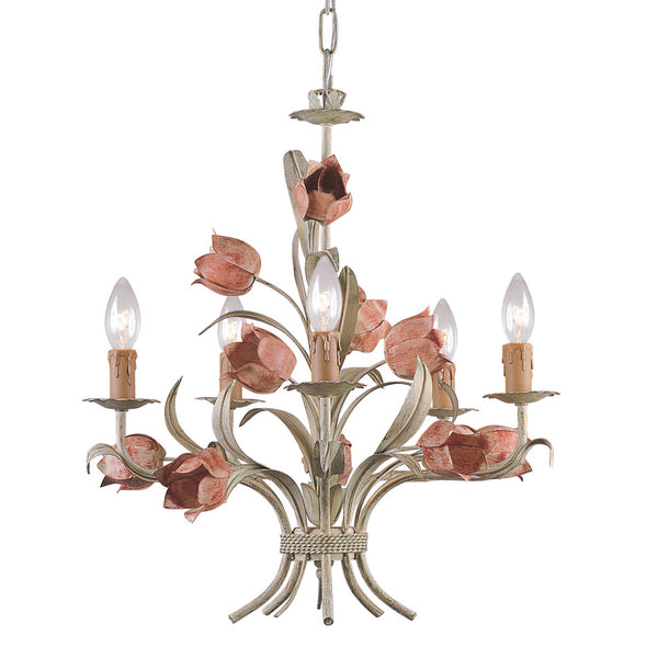 Crystorama 4805-SR Southport Chandelier in Sage Rose