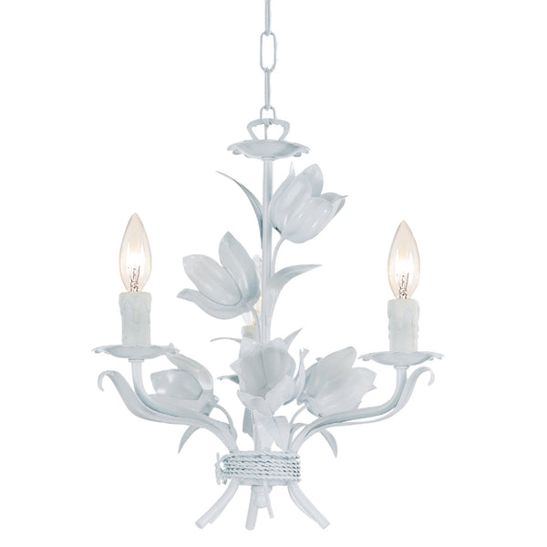 Crystorama 4813-WW Southport Mini Chandelier in Wet White
