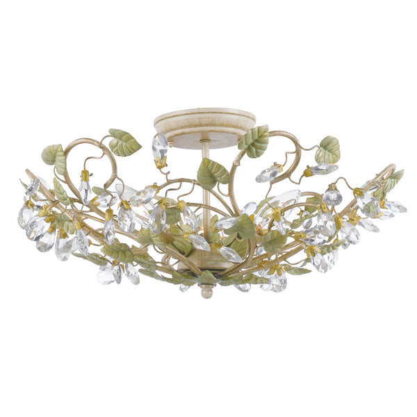 Crystorama 4840-CT Josie Ceiling Mount in Champagne Green Tea