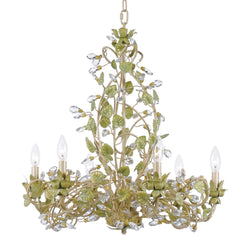 Crystorama 4846-CT Josie Chandelier in Champagne Green Tea