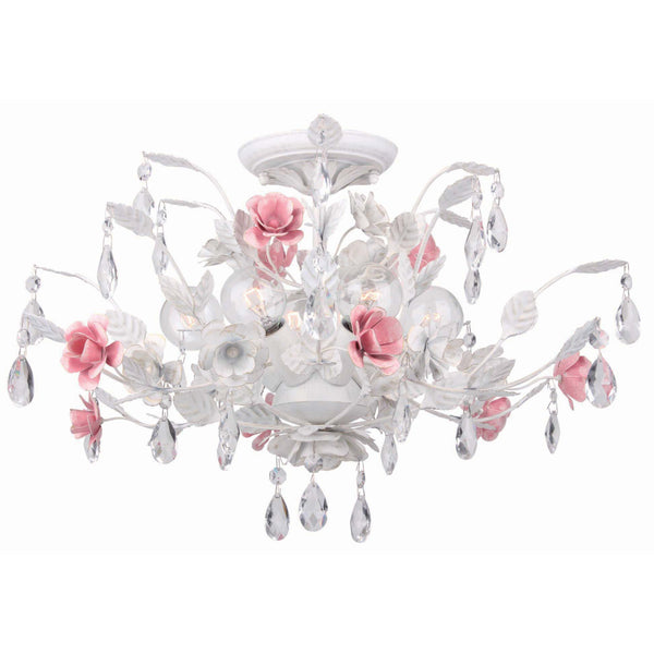 Crystorama 4850-WW Lola Ceiling Mount in Wet White