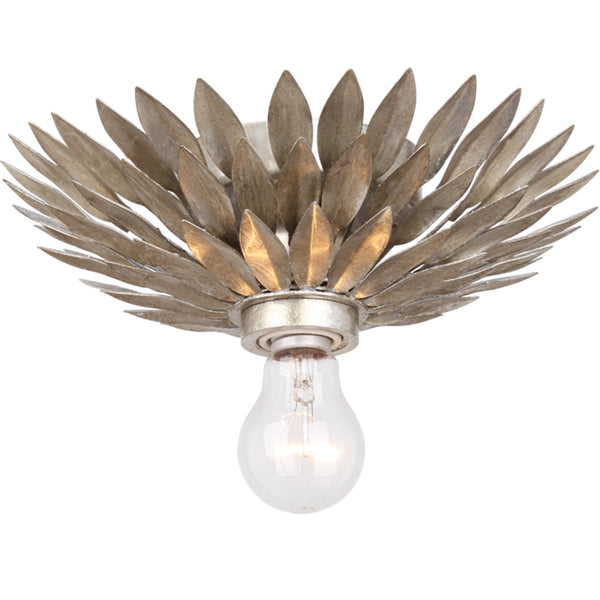Crystorama 500-SA_CEILING Broche Ceiling Mount in Antique Silver