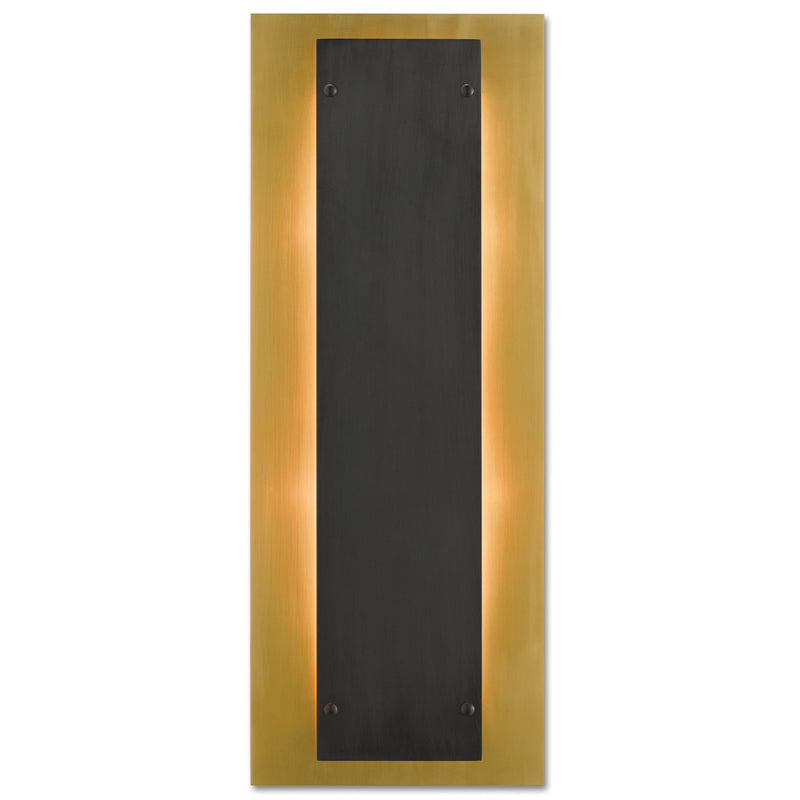 Currey and Company 5000-0117 Harmon Wall Sconce in Polished Brass/Oil Rubbed Bronze