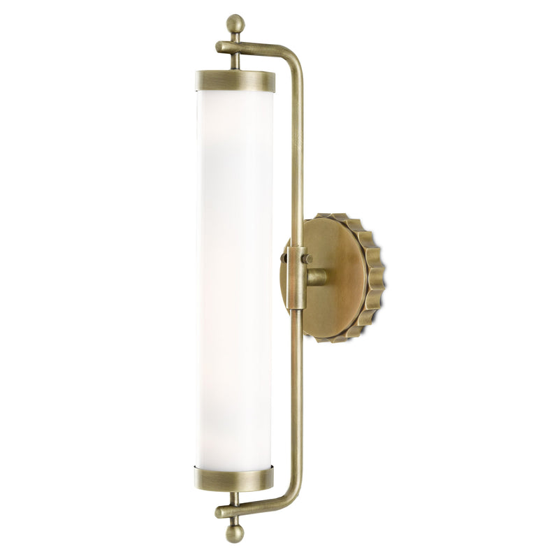 Currey and Company 5000-0141 Barry Goralnick Collection Latimer Brass Wall Sconce in Antique Brass