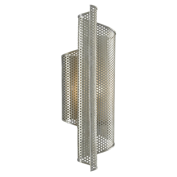 Currey and Company 5000-0167 Penfold Left Wall Sconce in Contemporary Silver Leaf/Painted Contemporary Silver