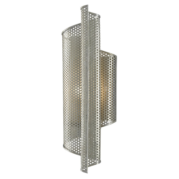 Currey and Company 5000-0168 Penfold Right Wall Sconce in Contemporary Silver Leaf/Painted Contemporary Silver