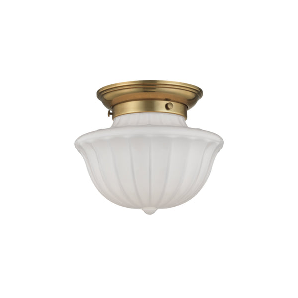 Hudson Valley Lighting 5009F-AGB Dutchess 1 Light Small Flush Mount in Aged Brass