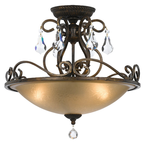 Crystorama 5010-EB-CL-MWP Ashton Ceiling Mount in English Bronze