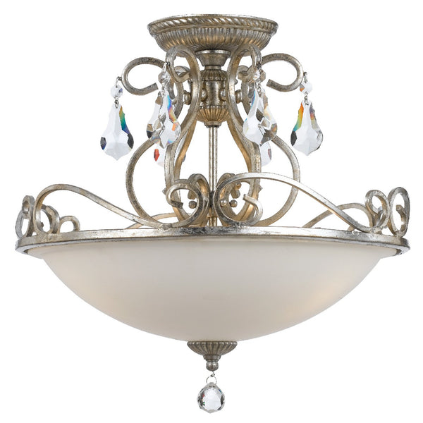 Crystorama 5010-OS-CL-MWP Ashton Ceiling Mount in Olde Silver