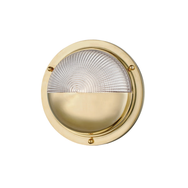 Hudson Valley Lighting 5011-AGB Hughes 1 Light Wall Sconce in Aged Brass