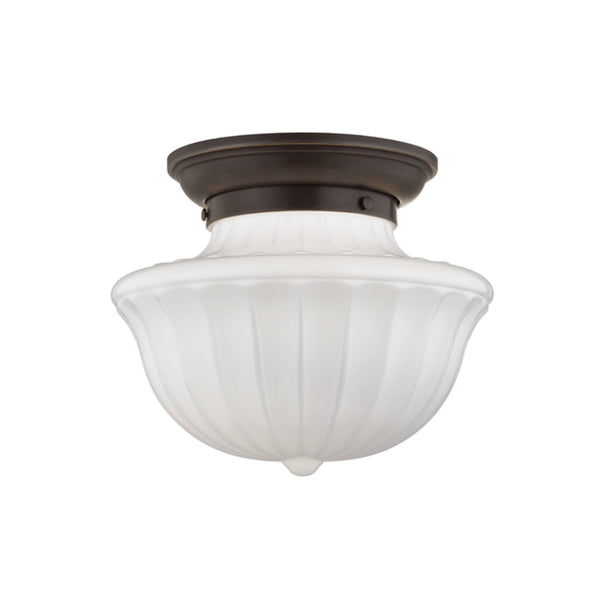 Hudson Valley Lighting 5012F-OB Dutchess 1 Light Medium Flush Mount in Old Bronze
