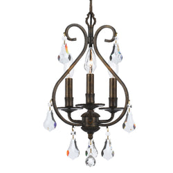Crystorama 5013-EB-CL-MWP Ashton Mini Chandelier in English Bronze