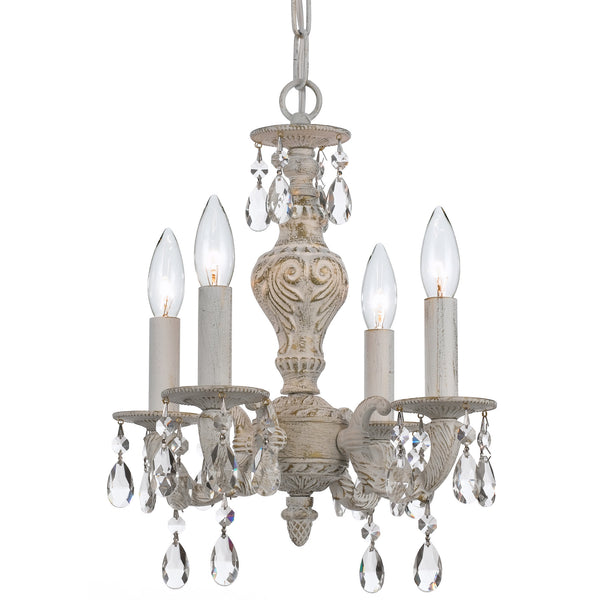 Crystorama 5024-AW-CL-MWP Paris Market Mini Chandelier in Antique White