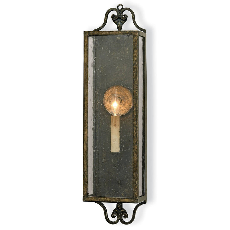 Currey and Company 5030 Wolverton Wall Sconce in Bronze Verdigris