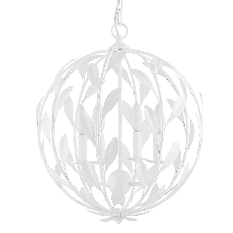 Crystorama 504-MT Broche Chandelier in Matte White