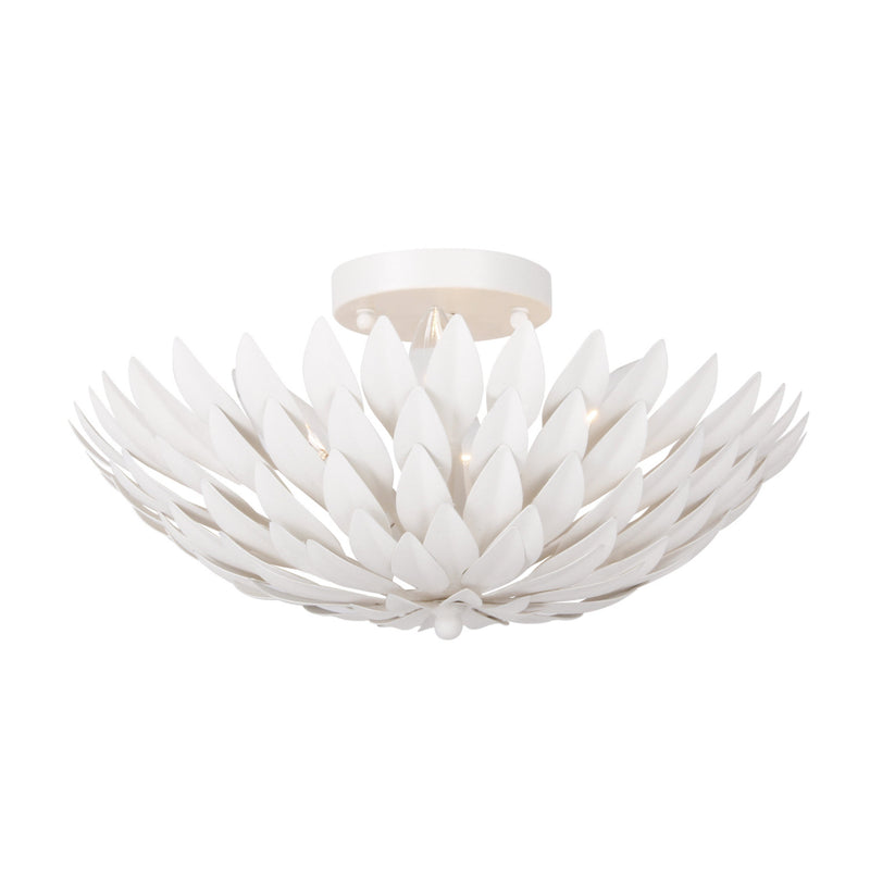 Crystorama 505-MT Broche Ceiling Mount in Matte White