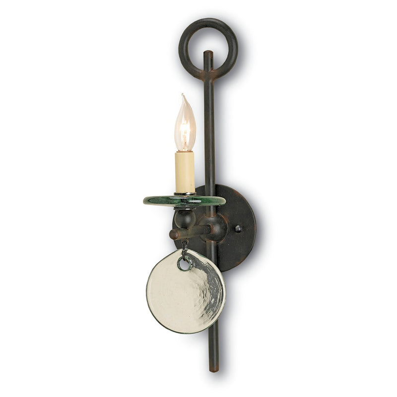 Currey and Company 5107 Sethos Black Wall Sconce in Old Iron