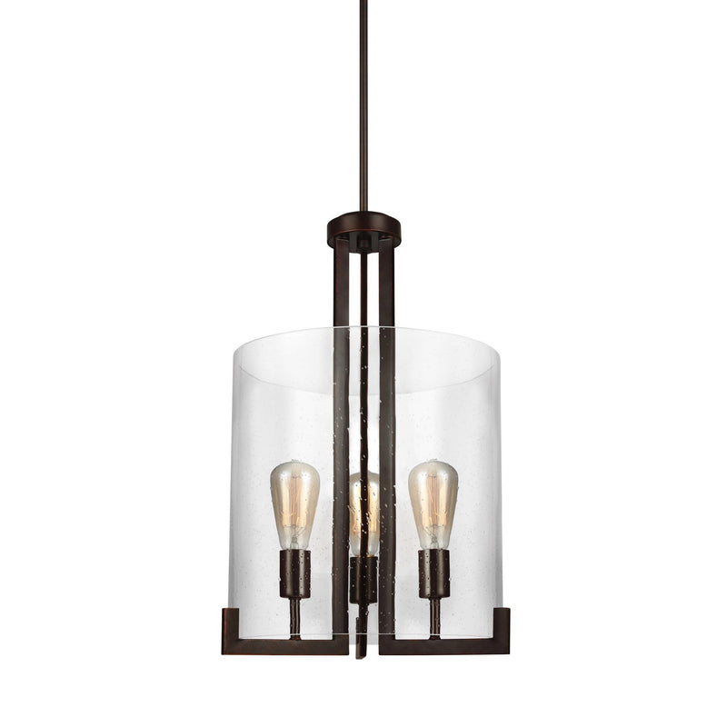 Generation Lighting 5126003-710 Sea Gull Dawes 3 Light Pendant in Burnt Sienna