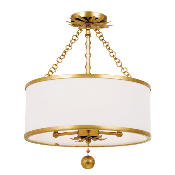 Crystorama 513-GA_CEILING Broche Ceiling Mount in Antique Gold