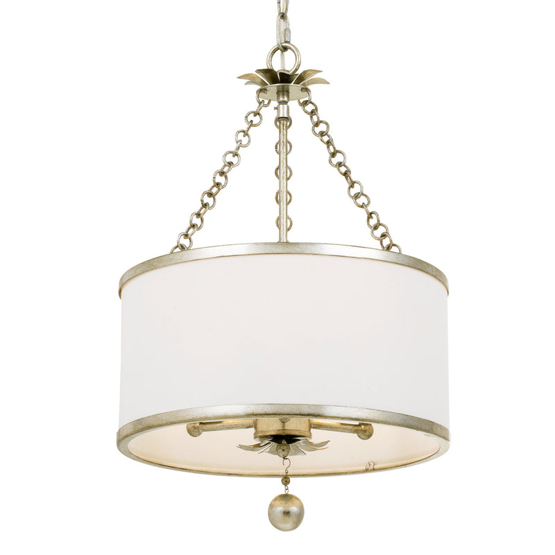 Crystorama 513-SA Broche Chandelier in Antique Silver