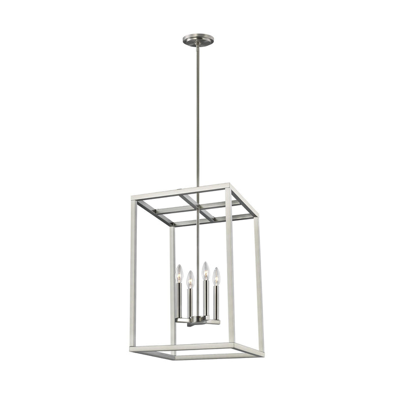 Generation Lighting 5134504-962 Sea Gull Moffet Street 4 Light Pendant in Brushed Nickel