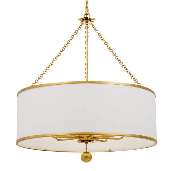 Crystorama 515-GA Broche Chandelier in Antique Gold