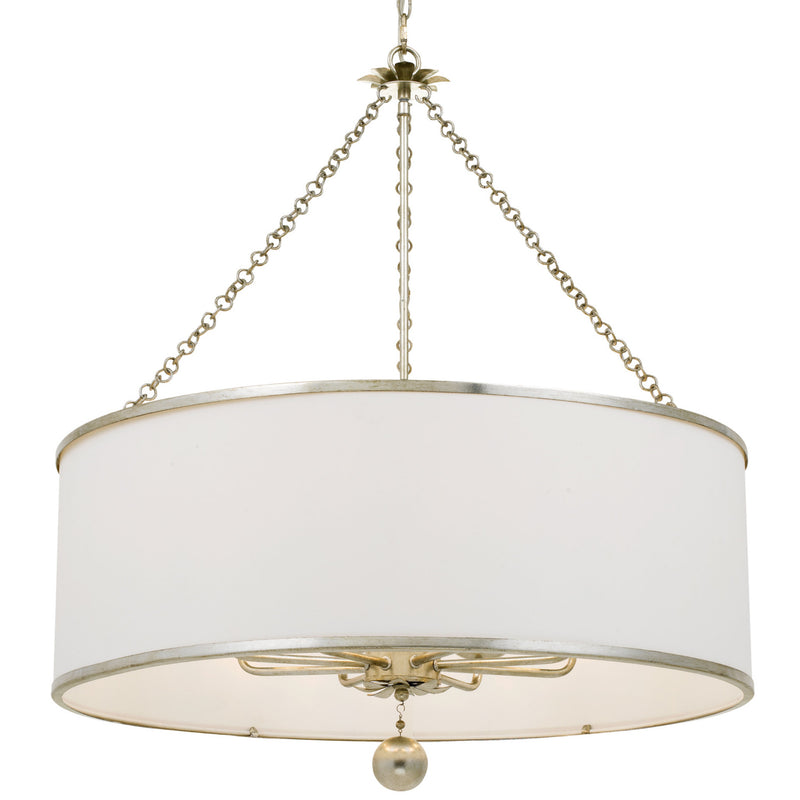 Crystorama 515-SA Broche Chandelier in Antique Silver
