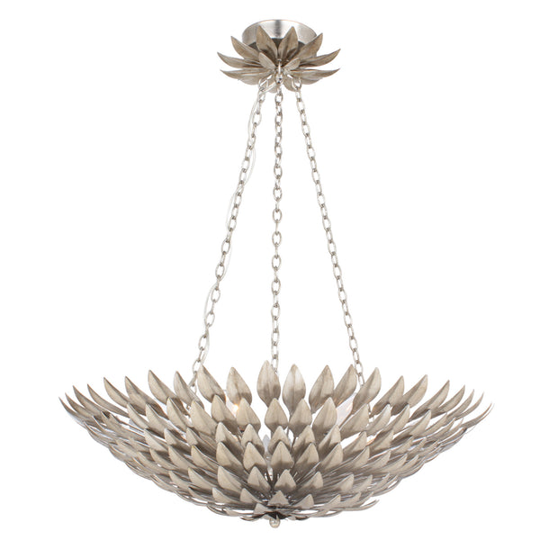 Crystorama 517-SA Broche Chandelier in Antique Silver