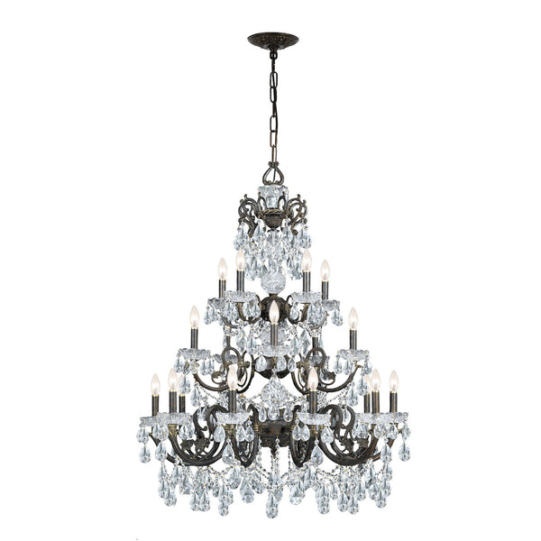 Crystorama 5190-EB-CL-MWP Legacy Chandelier in English Bronze