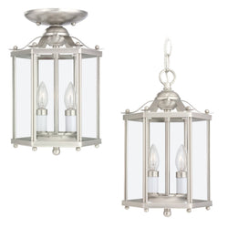 Generation Lighting 5232-962 Sea Gull Bretton 2 Light Ceiling Light in Brushed Nickel