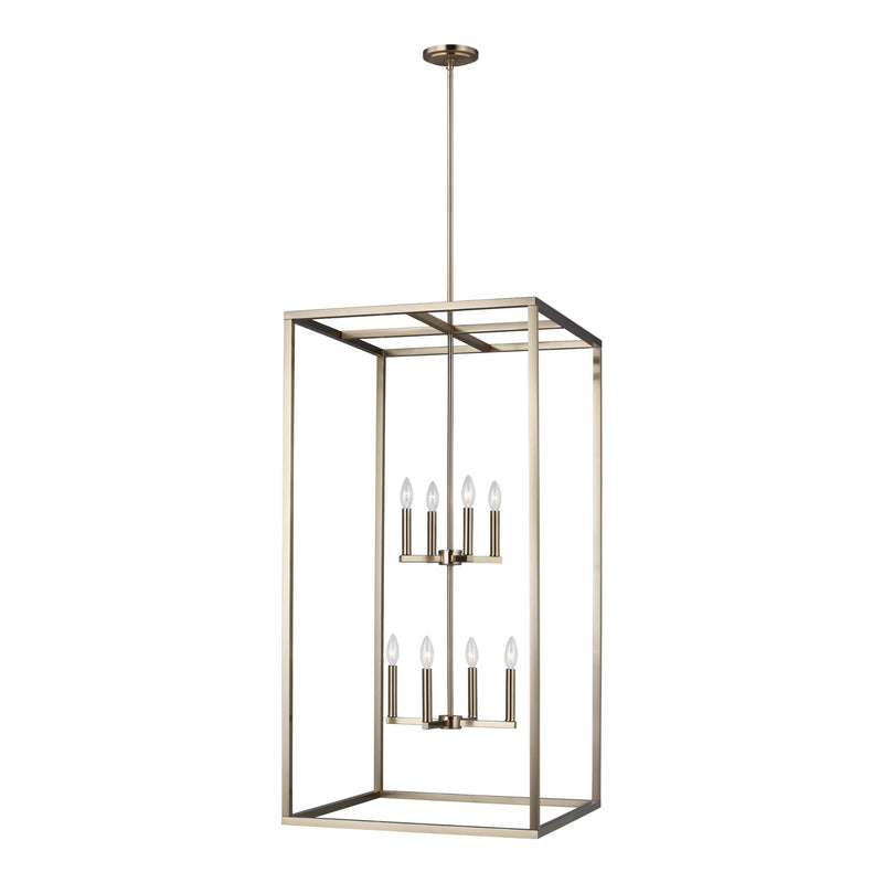 Generation Lighting 5234508-848 Sea Gull Moffet Street 8 Light Pendant in Satin Bronze